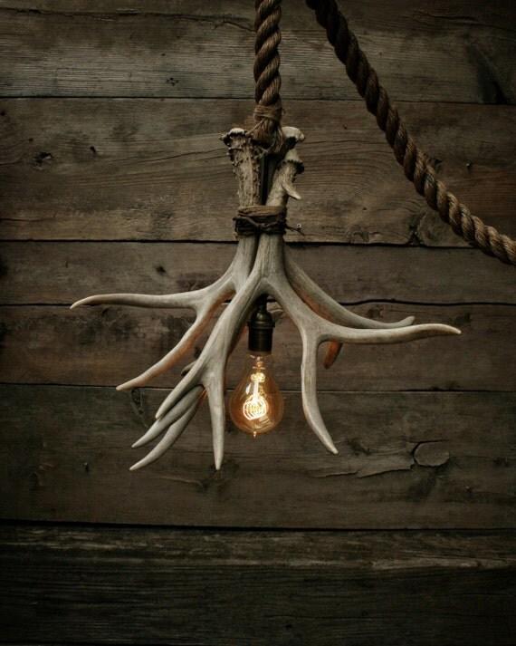 the cabin lit chandelier v2 antler shed pendant by. Black Bedroom Furniture Sets. Home Design Ideas