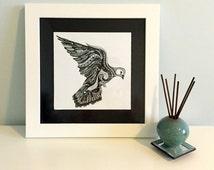 Zentangle Bird Original Ink Drawing