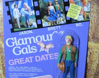 """Very Rare Vintage 80s Kenner Glamour Gals Great Dates """"Brett"""" Doll Figure NRFP"""