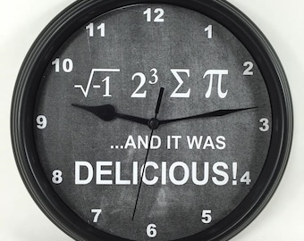 "CHEMISTRY MATH ""I Ate Some Pie..."" SCIENCE Physics Teacher's Wall Clock"