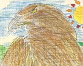 Greeting Card - Golden Eagle