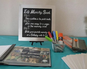 Photobooth memory/guest book