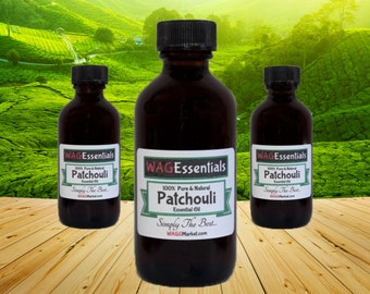 PATCHOULI Essential Oil - (2oz / 60mL) Amber Glass Bottle *** Free U.S. Shipping ***