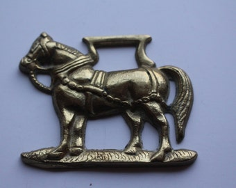 Vintage Horse Brass of a Working Horse