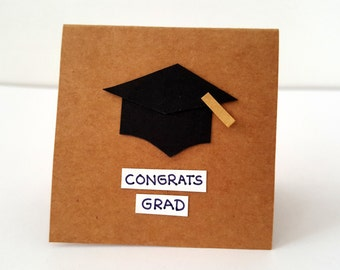 Congrats Grad Card / graduation card / graduation cap card / grad card / happy graduation