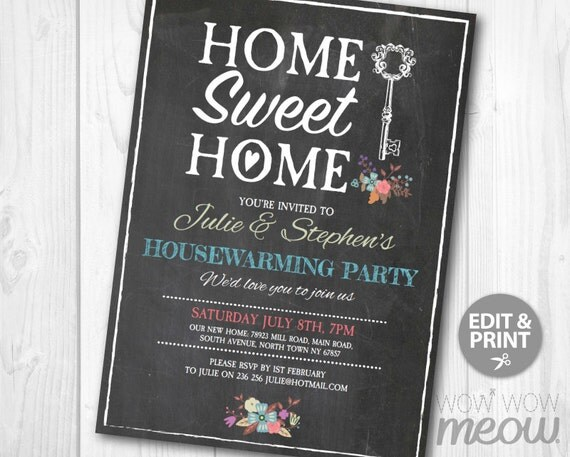 housewarming invitations new house invites home sweet home