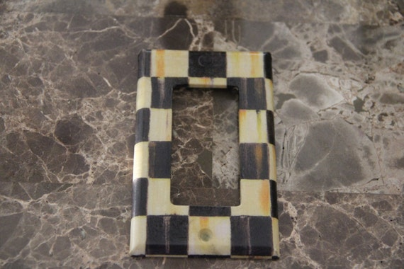 Single Rocker Switch Plate Outlet Cover Made With