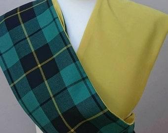 Braveheart.  Wallace clan tartan scarf. William Wallace tartan. Clan tartan accessory. Scottish tartan scarf. Wallace plaid scarf.