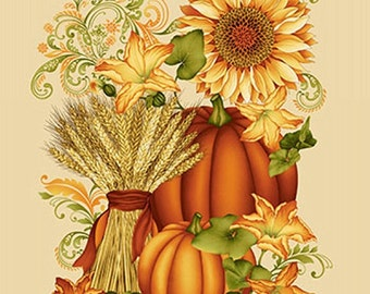 Fall Fabric, Welcome Panel - Cream from the Welcome Harvest collection_8516-44