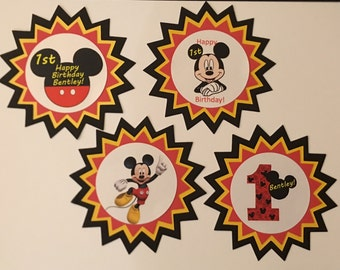 12  mickey mouse cupcake toppers
