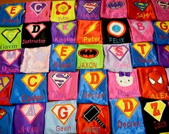 Customized Kids Superhero Capes,Personalized embroidered Kids Capes,Children Capes,Super hero capes,boys capes,wedding capes,kids costumes