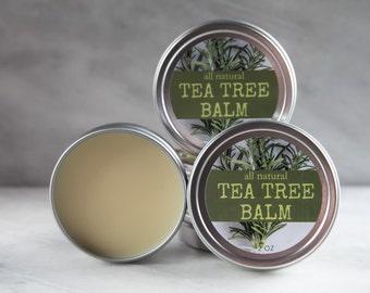 Organic Tea Tree Balm | Skin Tag Balm | Fungus Balm | Skin Tags | Fungus | Organic Balm | Organic Salve | Tea Tree | Organic Skin Care