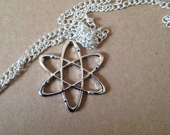 Atom Necklace, Science, Geek, Space