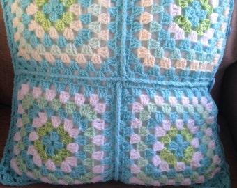 4 Square Crochet Cushion Cover