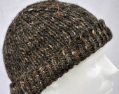 Alpaca Winter Hat -- hand spun, hand knit. Excellent for extended wear in serious cold. Toque, beanie, watch cap, warm, warm, warm!
