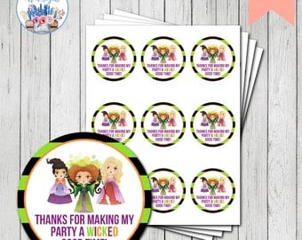 Hocus Pocus Favor Tag, Hocus Pocus Birthday Party, Halloween