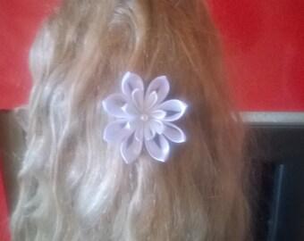 bridal kanzashi flower hair clip