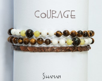 The small Eagle: semi-precious stones for strength and courage bracelet