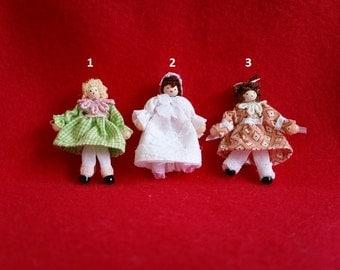 Miniature dollhouse doll 1/12th scale