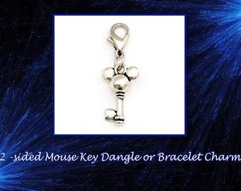 SALE! Very Cute 2-Sided Mouse Key Dangle or Bracelet Charm.