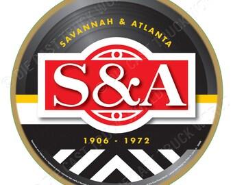 Savannah & Atlanta Railroad Logo Wood Plaque / Sign