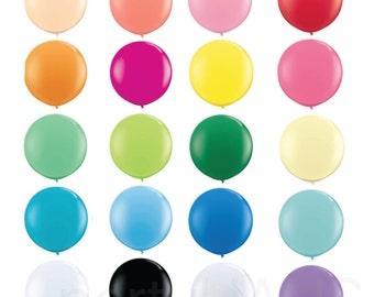 """36"""" Round Balloons, Latex, 36"""", Latex Balloons, 36"""" latex balloons, 3', 3 foot balloons, Large Solid Color Latex Balloon, 3 foot, Round"""