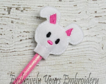 Bunny Pencil Toppers - Party Favor - Classroom Prizes - Small Gift - Spring - Easter - Back to School
