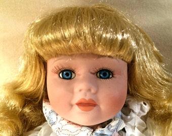 Bisque Porcelain Doll 18 inches - Susan