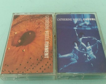 Lot of 2 Catherine Wheel Cassette Tapes Ferment Chrome Free Shipping