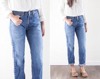 Vintage Levis Jeans // Levis Denim Jeans // Levis 501 // High Waisted Jeans // Medium Wash Denim  // Vintage Women's Clothing