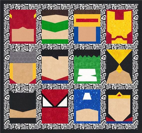 Super Heroes 12 Quilt Block Patterns Superman Batman Thor : 12 quilt block patterns - Adamdwight.com