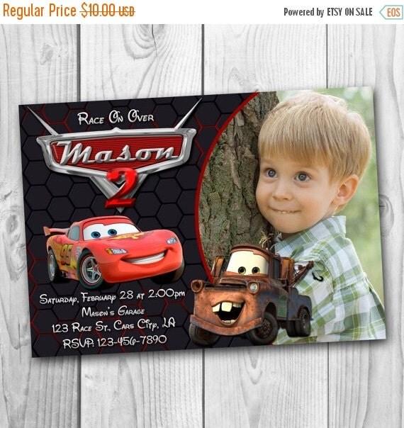 DIGITAL FILE Disney Cars Invitation Cars By CuteInvitation1