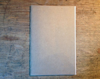 Handmade Kraft Cahier Journal - Hand Stitched Recycled Paper Notebook