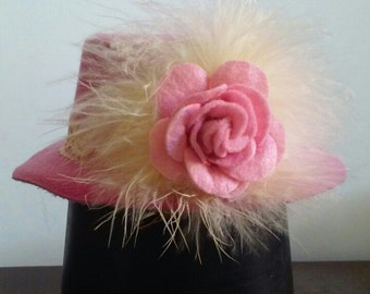 mini top hat - pink