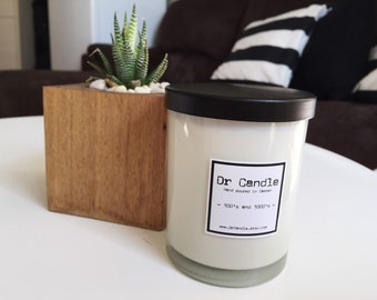 100's & 1000's wooden wick soy candle