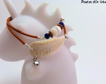 Bracelet double round shell