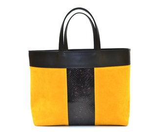 Tote bag NELSON - fish leather