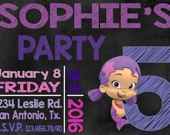 Oona, Bubble Guppies digital invitation
