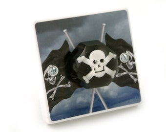 Pirate Bedroom Light Switch - Pirate Gift - Pirate Birthday Gift - Pirate Bedroom Decor - Decorative Light Switch - Pirate Nursery - Gifts