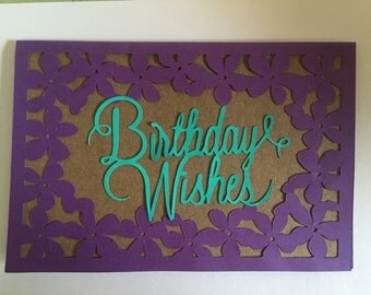 Handmade Birthday Wishes Card with Envelope