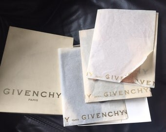 Givenchy boxed set of three 1940s fishnet stocking's  size small