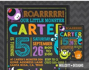 Little monster birthday invitation, Monster invite ,Monster party printable, Monster Birthday Invitation, first birthday, 1st birthday