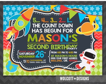 Spaceship birthday invitations, Space birthday invitations, Spaceship invite, Rocket ship invitation, outer space, outer space birthday,