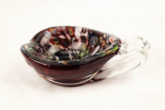 Murano-Mid Century-Millefiori Art Glass Serving Bowl/Serving Boat-Circa 1960's