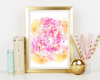 Yin Yang Mandala Art Print - Home Decor - Hippie Art Print -  Art Print - Esoteric Print- Spiritual Print- Supernatural