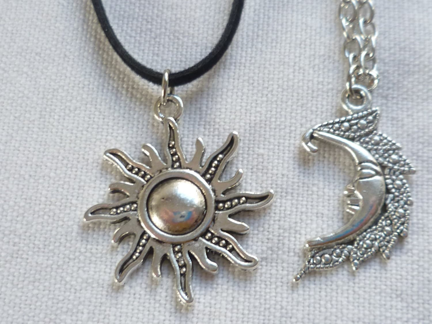 Sun choker and moon necklace setsun and moon