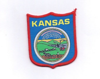 Vintage Kansas State Flag/Seal -Biker Patch