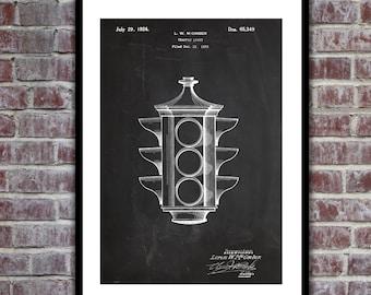 Traffic Light Patent, Traffic Light Poster, Traffic Light Blueprint,  Traffic Light Print, Traffic Light Art, Traffic Light Decor