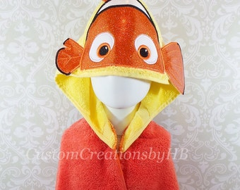 3D Nemo Inspired Hooded Towel on High Quality Belk Department Store Towel