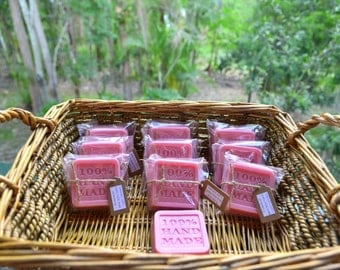 Handmade Natural Boutique Soap (x10 bars) ~ Strawberry ~ Goats Milk